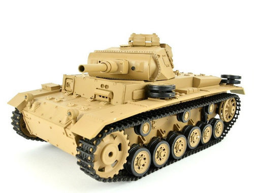 "RC Panzer ""Tauchpanzer III"" 1:16 Heng Long, Rauch, Sound, Schussfunktion, 2,4 Ghz"