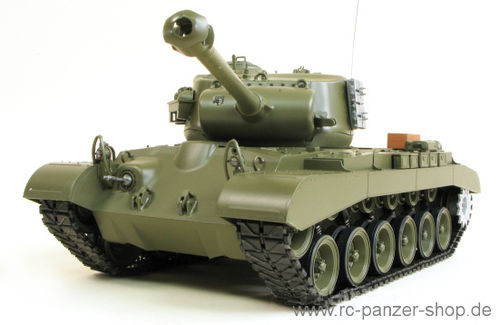 "RC Panzer M26 Pershing ""Snow Leopard"" Heng Long 1:16, Rauch, Sound, Schussfunktion"