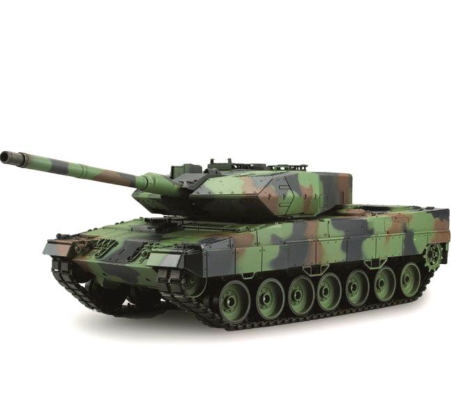 Leopard 2A6 RC Tank Heng Long 1:16 smoke, sound, shot function, metal steel  gear, 2,4Ghz V6 0