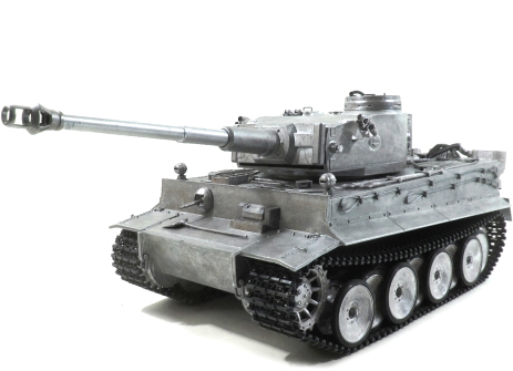 "RC Panzer ""Tiger I"" RTR Vollmetall, Mato, 2,4 Ghz, 360° Turm, Sound, Schussfunktion"