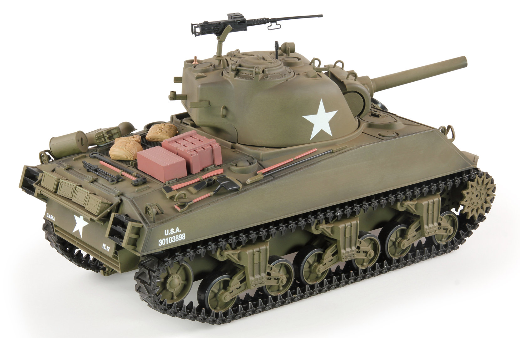 rc tanks usm4a3 sherman 1 16 smoke sound shot function. Black Bedroom Furniture Sets. Home Design Ideas