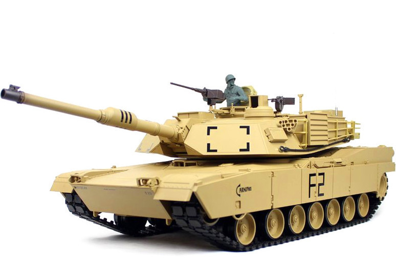 RC Tank M1A2 Abrams Pro 1:16 Heng Long smoke, sound, shot, metal gear,  metal tracks, 2,4Ghz