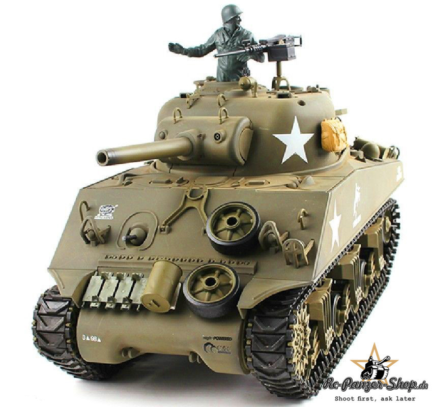 rc panzer u s m4a3 sherman 1 16 rauch sound. Black Bedroom Furniture Sets. Home Design Ideas