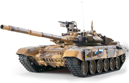"RC Panzer ""Russian T90"" Heng Long 1:16, Rauch, Sound, Metallgetriebe, Schussfunktion, 2,4 Ghz"