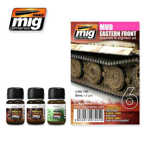 MIG Weathering Mud Set - Modellbau Alterungs Set Schlamm