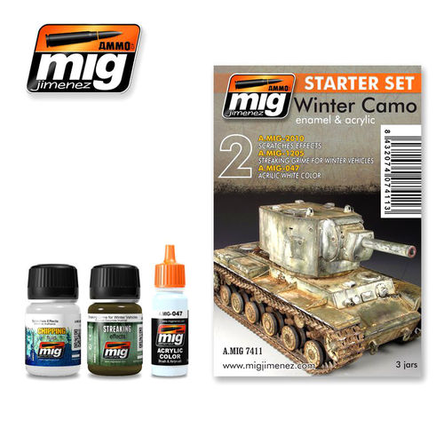 MIG Weathering Winter Camo Set - Alterungs Set Winter