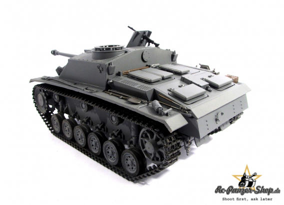 rc tank stug iii full metal mato ir recoil system grey. Black Bedroom Furniture Sets. Home Design Ideas