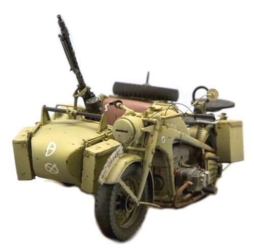 SOL 1/16 Scale Kit Motorcycle Zündapp KS-750 with sidecar