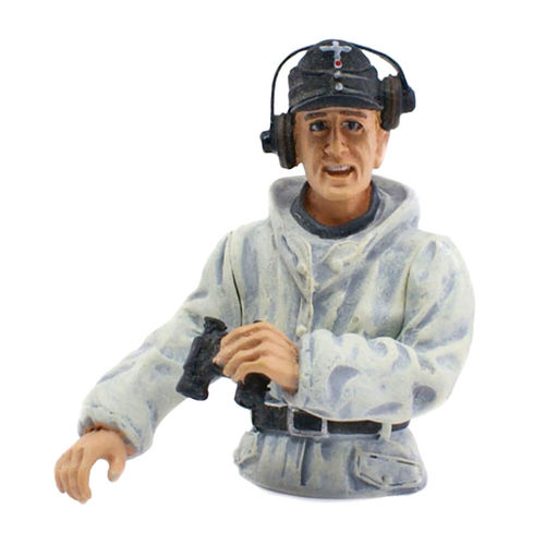 Figure Tank Commander, winter camouflage, scale 1:16