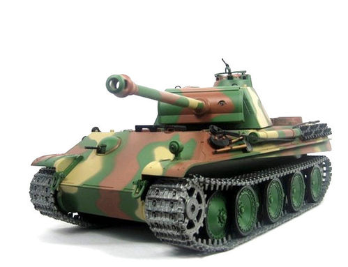 RC Panzer Panther G Pro Heng Long 1:16 Rauch Sound BB + IR Metallgetriebe Metallketten 2,4 Ghz V6.0