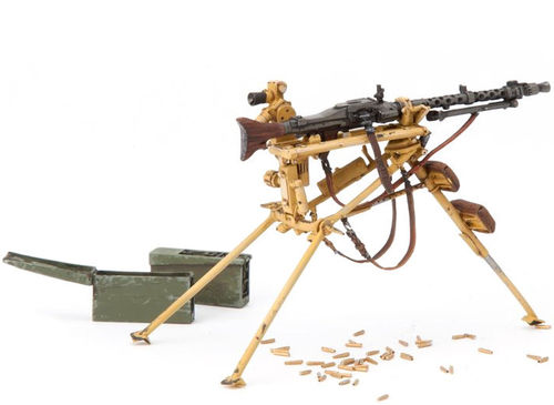 SOL MG34 on MG-Lafette incl. Ammunitionbox, Kit, Scale 1:16