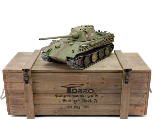 RC Panzer Panther F 1:16 Metall-Version BB-Airsoft PRO-Edition 2.4 GHz Torro