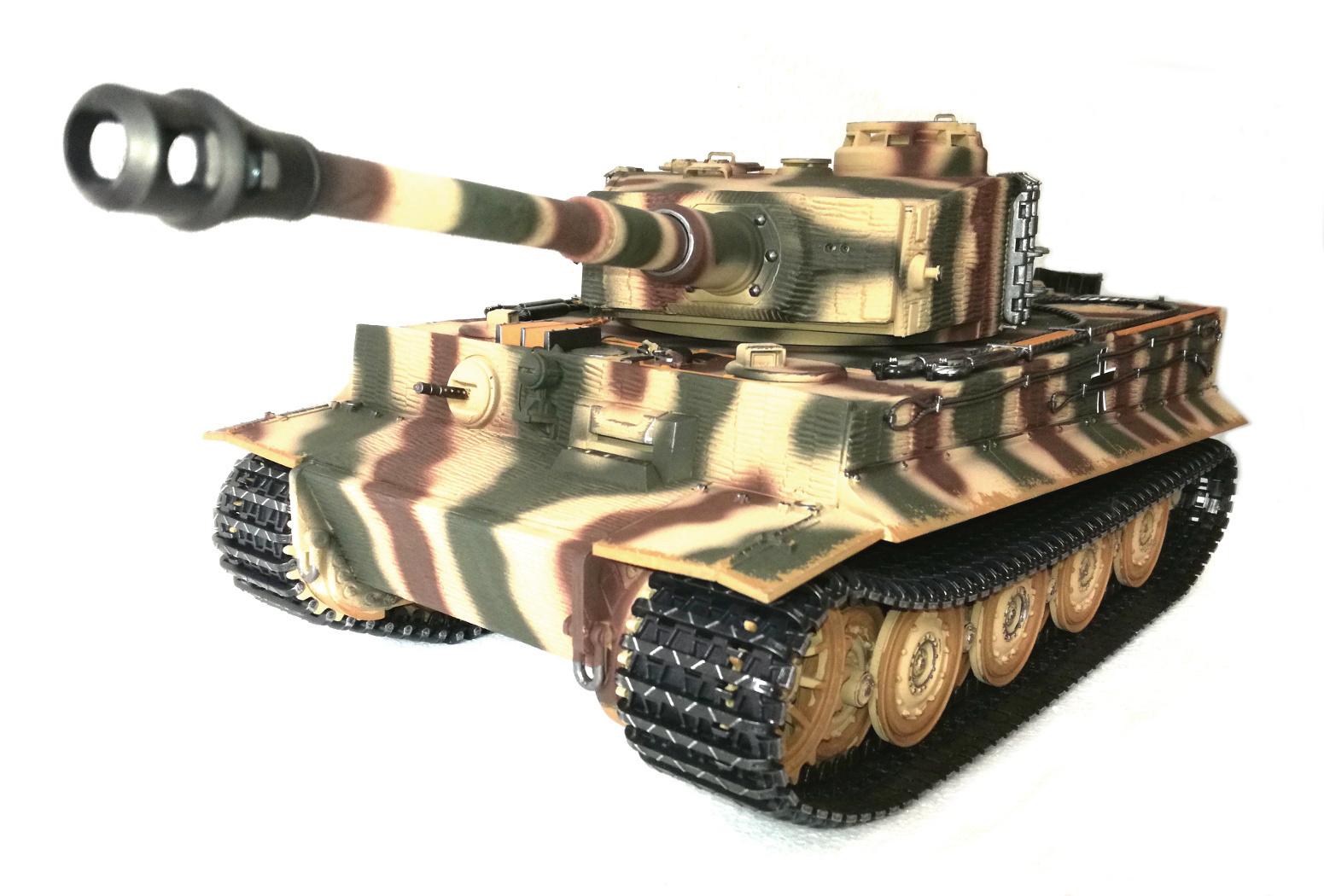 rc panzer tiger 1 1 16 rauch sound bb rrz metallketten. Black Bedroom Furniture Sets. Home Design Ideas