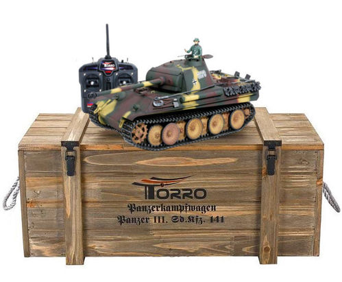 RC Panzer Panther G 1:16 Metall-Version BB 360° Turm PRO-Edition 2,4 GHz Torro