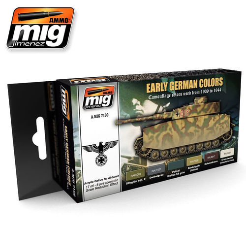 MIG Color Set German Camo - Modeling Colors early / middle german vehicles