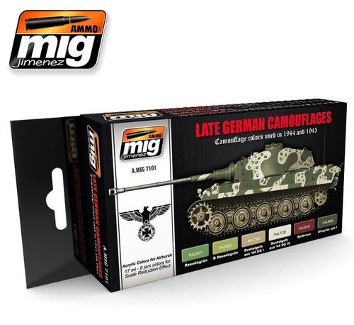 MIG Color Set German Camo - Modeling Colors late german vehicles