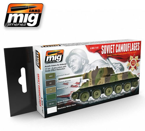 MIG Color Set Soviet Camouflages - Modeling Colors 1935-1945 russian vehicles