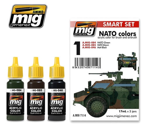 MIG Color Set NATO Colors - Modeling Colors for NATO military vehicles