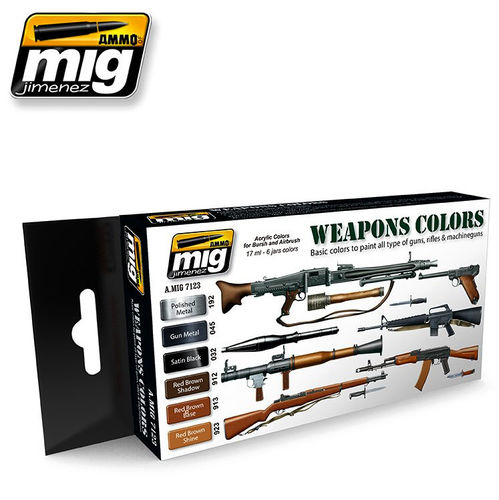 MIG Color Set Weapons - Modeling Colors Military