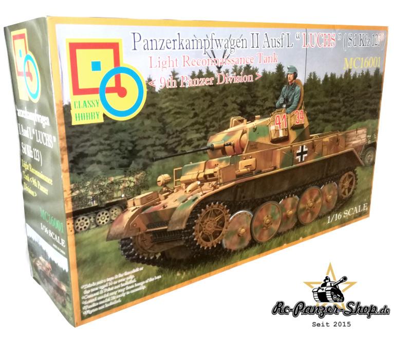"""Panzer II Ausf. L """"Luchs"""" Sd.Kfz. 123 Tank Kit Scale 1:16"""