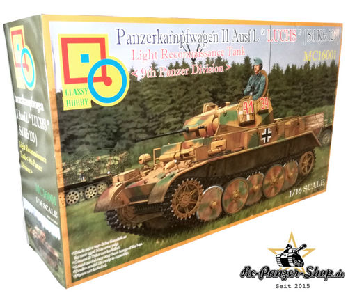 "Panzer II Ausf. L ""Luchs"" Sd.Kfz. 123 Tank Kit, 9. Panzer Division, scale 1:16, Classy Hobby"