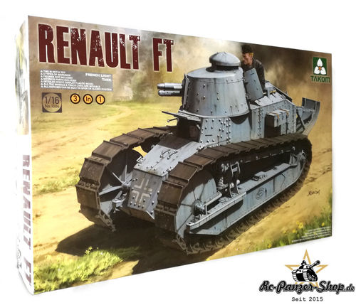 French Light Tank Renault FT-17 Panzer Bausatz, Maßstab 1:16, Takom