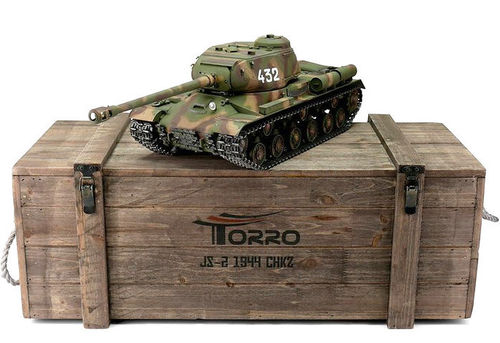 RC Panzer russischer IS-2 1:16 Metall-Version IR RRZ 360° Turm PRO-Edition 2,4 GHz Torro Camo