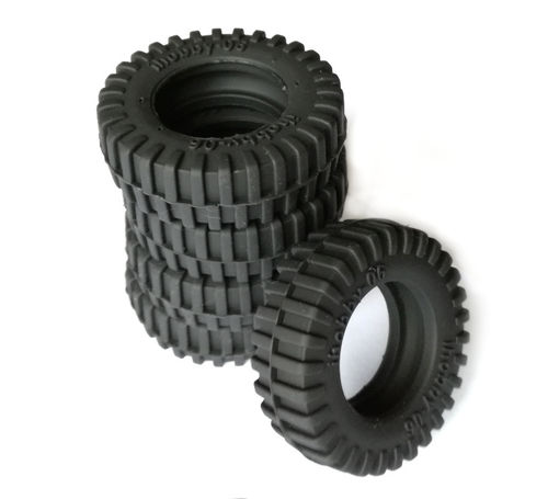 Scale tires, tank accessories 1:16