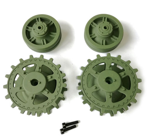Panther G drive wheels/idler wheels, plastic, Heng Long