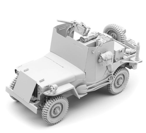 U.S. Willys MB Jeep armored, Kit, scale 1/16, SOL