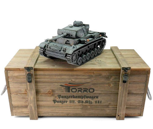 RC Panzer PzKpfw III 1:16 Metall-Version BB-Schuss PRO-Edition 2.4 GHz Torro