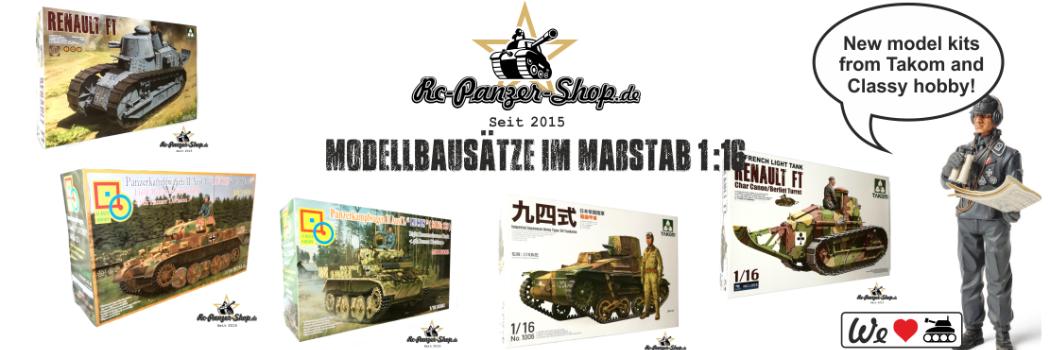 RC Panzer Shop - RC Battle Tanks Onlineshop, remote